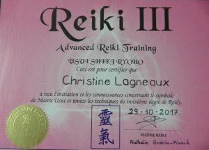 diplôme maitre Reiki